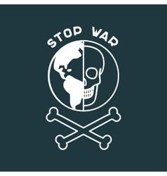 Stop war poster vector
