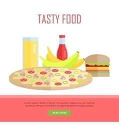 Tasty food concept web banner vector