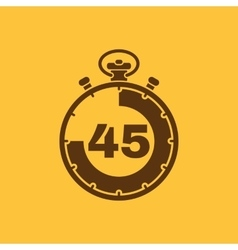 The 45 seconds minutes stopwatch icon Clock and vector image vector image