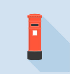 Vintage red mail post box vector