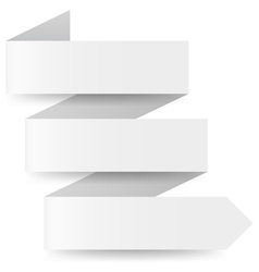White paper arrow vector