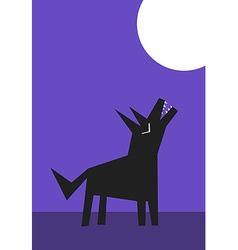 Wolf howl vector