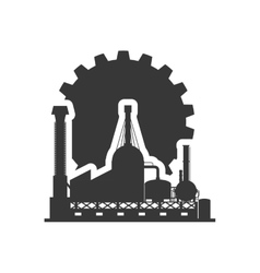 gear factory silhouette design vector image