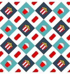 Movie cinema seamless pattern background2 vector