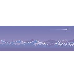 Mountain at night vector image