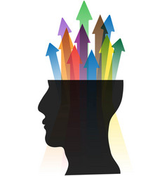 head arrows vector image