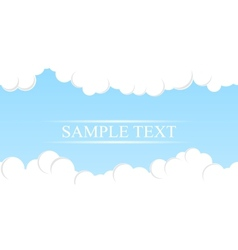 Simple sky background vector