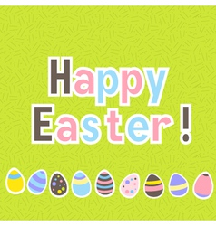 Easter colorful green greeting card vector