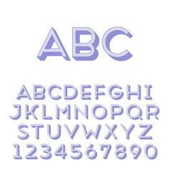 Handmade sans-serif font vector image