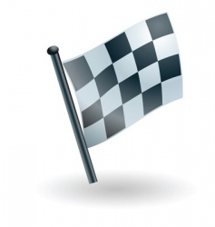 Checked checkered flag vector