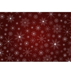 Traditional Christmas snowflakes background vector image