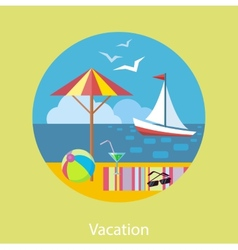 Traveling and planning a summer vacation vector