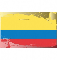 Colombia national flag vector
