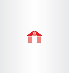 Red house icon element sign vector