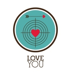 Love you card design vector