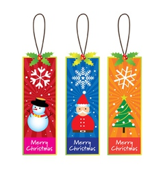 Xmas bookmarks vector