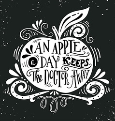 An apple a day keeps the doctor away Motivational vector image