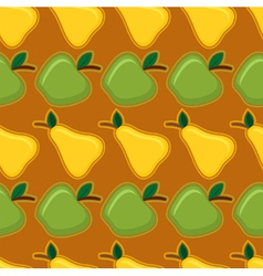 apple and pear seamless pattern vector image vector image