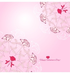 Background with ornamental round with rose-02 vector image vector image