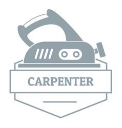 Carpenter logo simple gray style vector