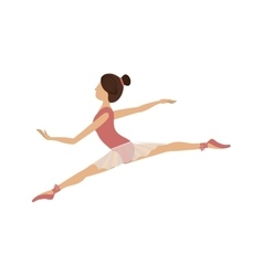 Colorful dancer position small spears vector