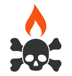 Death ignition flat icon vector