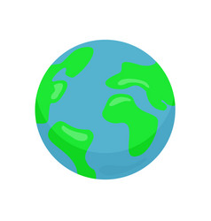 earth planet colorful icon isolated on white vector image