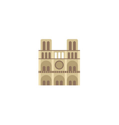 flat icon notre dame element vector image vector image