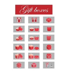 giftboxes vector image