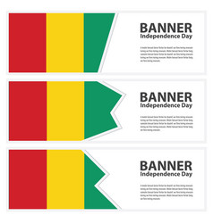 Guinea bissau flag banners collection vector