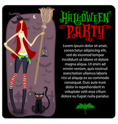 halloween witch template halloween series vector image