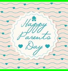 Happy parents day vector