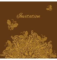 invitation Brown background vector image vector image
