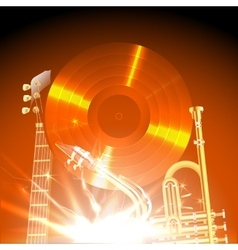 jazz instruments in the light of uno vector image