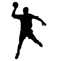 Male handball player vector
