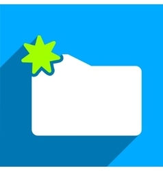 New folder flat square icon with long shadow vector