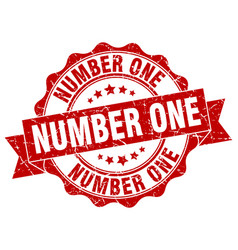 number one stamp sign seal vector image vector image