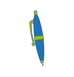 Pen ink write supply work icon vector