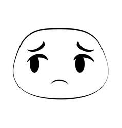 Sad emoji face icon vector