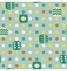 seamless geometric background of squares vector image vector image
