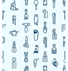 Seamless tool icon background vector