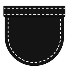 Shirt pocket icon simple style vector