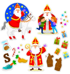 Sinterklaas collection vector image vector image