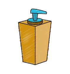 Soap dispenser bottle icon vector