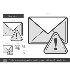 Spam line icon vector image