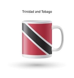 Trinidad and tobago flag souvenir mug on white vector