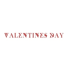 Valentines Day modern background text logos vector image vector image