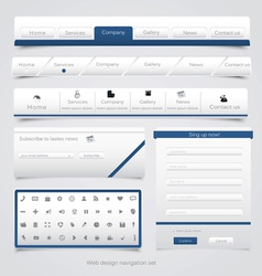 Web site navigation menu pack 4 vector