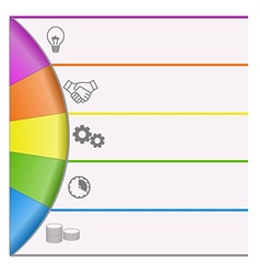Infographics strips and colorful semicircle vector