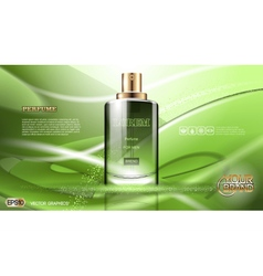 Digital green glass perfume for men vector